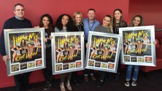 Little Mix with their Get Weird platinum awards