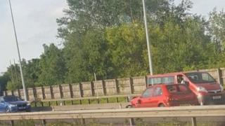 M60 car driving wrong way