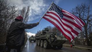 Чехия, военная колонна США