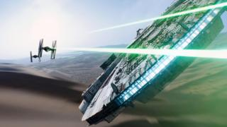 Space battle in The Force Awakens