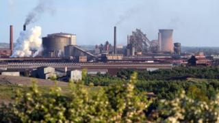 British Steel Scunthorpe plant wide shot
