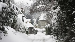 Заснеженная деревня в Кенте