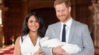 The Duke and Duchess of Sussex have shared the first glimpse of their newborn son