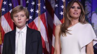 Barron and Melania Trump