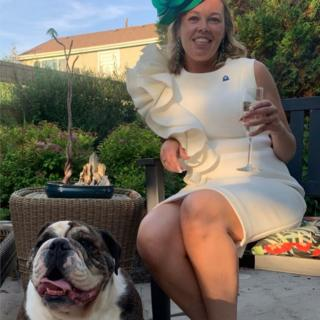 Nikki Samolovitch with her dog Champ