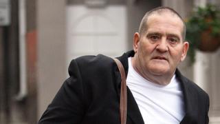 Mark Porter arriving at Luton Crown Court