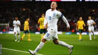 Rooney 53 gool ayuu u dhaliyey England