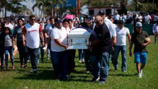 Meksika'da bir cenaze