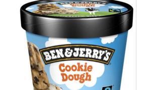 Pot of Ben & Jerry's ice cream