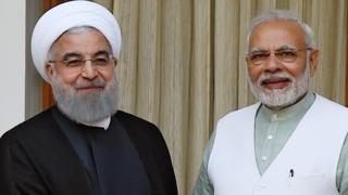 ઈરાનના રાષ્ટ્રપતિ હસન રુહાની અને વડાપ્રધાન નરેન્દ્ર મોદી
