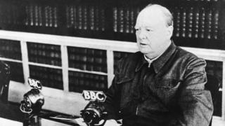 The British Prime Minister Winston CHURCHILL gave the speech (on the BBC) he just delivered at the House of Commons 13 May, 1940