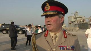 General Sir Richard Barrons pictured in Bahrain in November 2015