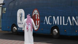 İtalyan Serie A ekipleri Juventus ve Milan takımları Cidde