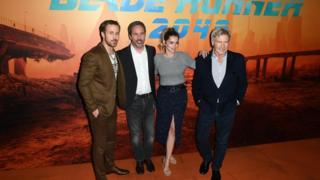 Ryan Gosling, Denis Villeneuve, Ana de Armas and Harrison Ford