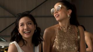 Movie still from Crazy Rich Asians showing Constance Wu