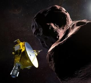 Nasa Horizons probe doing a fly-by (artist's impression).