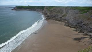 Cliffs at Mewslade Bay