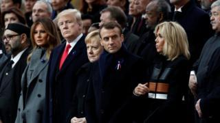Paris'te dünya liderleri
