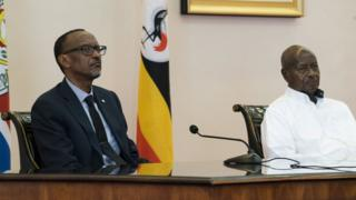 Prezi w'u Rwanda Paul Kagame n'uwa Uganda, Yoweri Museveni