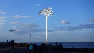 Artist impression of palm tree
