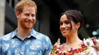 Prince Harry, Duke of Sussex and Meghan, Duchess of Sussex visit the University of the South Pacific on October 24, 2018 in Suva, Fiji.