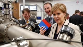 Nicola Sturgeon on the campaign trail