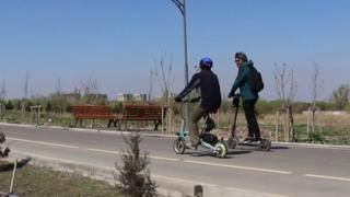 Бишкектеги скутер тепкендер