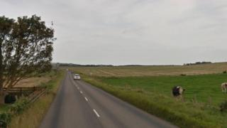The Roseisle to Kinloss road