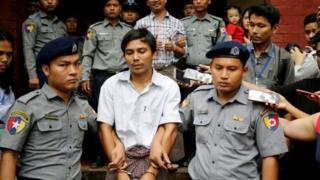 နိုင်ငံတော်လျှို့ဝှက်ချက်ပေါက်ကြားမှုနဲ့ တရားစွဲပြစ်ဒဏ်ချခံထားရသူ ကိုဝလုံးနဲ့ ကိုကျော်စိုးဦး