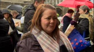 Teacher Catriona Concannon, from Londonderry, said it wasn't right that some teachers were excluded from applying for the jobs