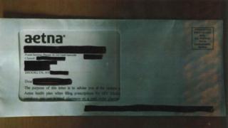 envelope revealing HIV status