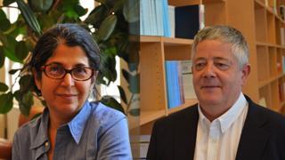 عکس رولاند مارشال و فریبا عادلخواه در وبسایت دانشگاه ساینس پو