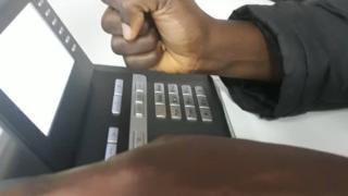 One BBC Pidgin tori pesin hold phone for hand to make call. Tuesday 03/12/19