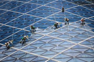 At work by Volker Sander, Abu Dhabi.
