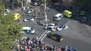 Scene of Barcelona incident 17/8/17