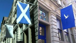 Glasgow Caledonian University's New York campus and transformed into Le Marche Bleu pop-up
