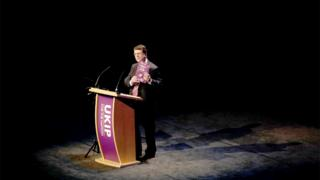 Gerard Batten speaking during UKIP's party conference