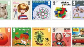 toy stamps from the Royal Mail