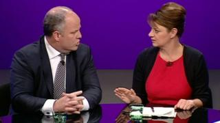 Andrew RT Davies and Leanne Wood