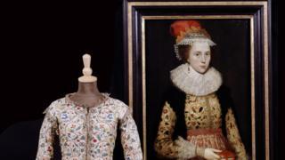 Waistcoat and portrait