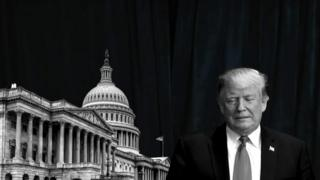 A composite image of US Congress and US President Donald Trump