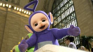 Tinky Winky at Grand Central Station in New York in 2007