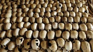 Image of skulls in Rwanda