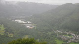 Fog over the Sirhowy Valley