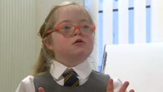 Six-year-old Elinor Curtis has Down's syndrome
