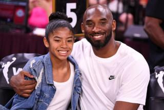 Kobe Bryant is pictured with his daughter Gianna at the WNBA All Star Game in 2019.