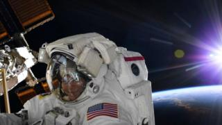 Astronauta Anne McClain, el 22 de marzo.