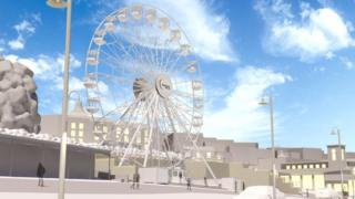 Artists impression of observation wheel in Scarborough