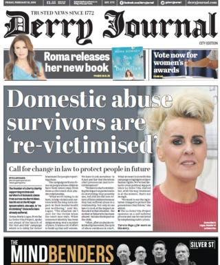 Derry Journal front page 23/02