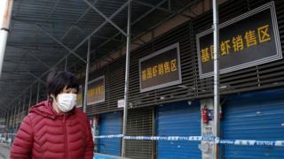Nhiều người nhiễm virus corona từng làm việc hay đến mua bán ở chợ hải sản này ở Vũ Hán, chợ hiện đã bị đóng cửa